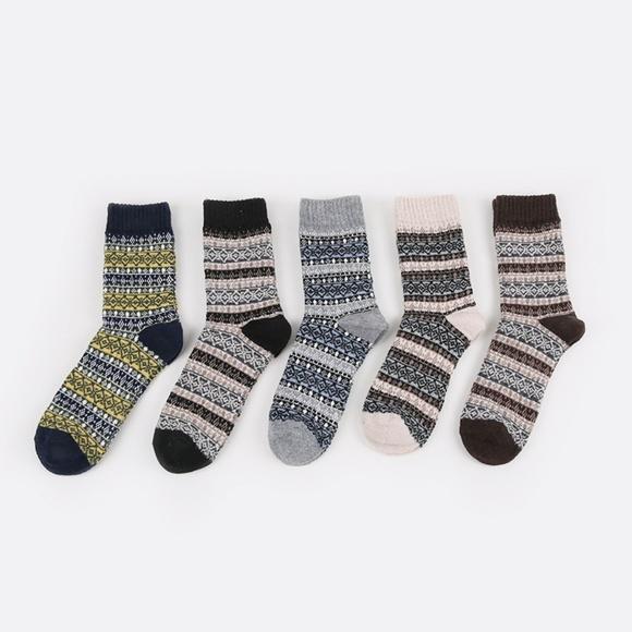 a613750476215 Underwear & Socks | 5 Pairs Mens Vintage Socks Jacquard Weave | Poshmark